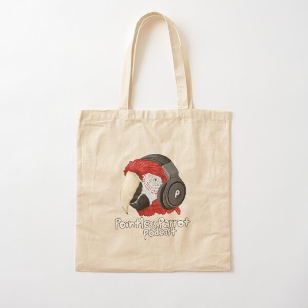 Basic Parrot Podcast Cotton Tote Bag