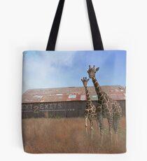 Where Giraffee roam or Rubber Necking?  Tote Bag