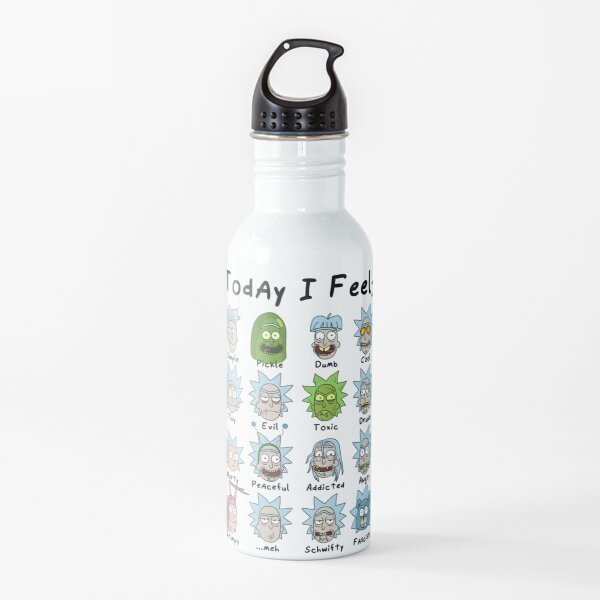 Today I Feel Rick Water Bottle