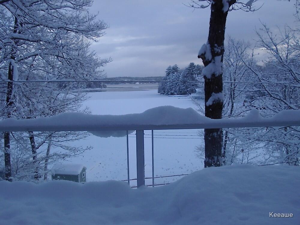 Winter Lake by Keeawe