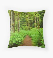 Simply Rainforest at Mike Lake Throw Pillow