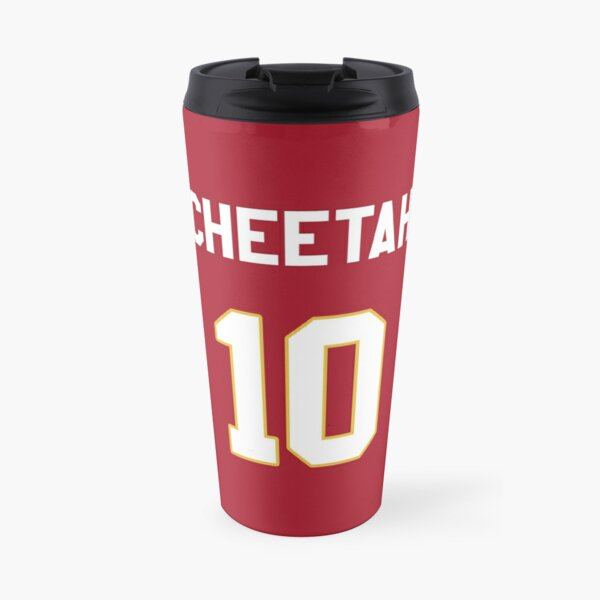 Limited Edition Tyreek Hill Jersey Style Shirt, Cheetah 10, Hill 10, Kansas City Chiefs Shirt, Mug, Hoodie & Wall Tapestry! Travel Mug