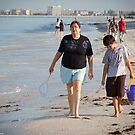 Strolling Along Sunset Beach, Florida by LauraBroussard