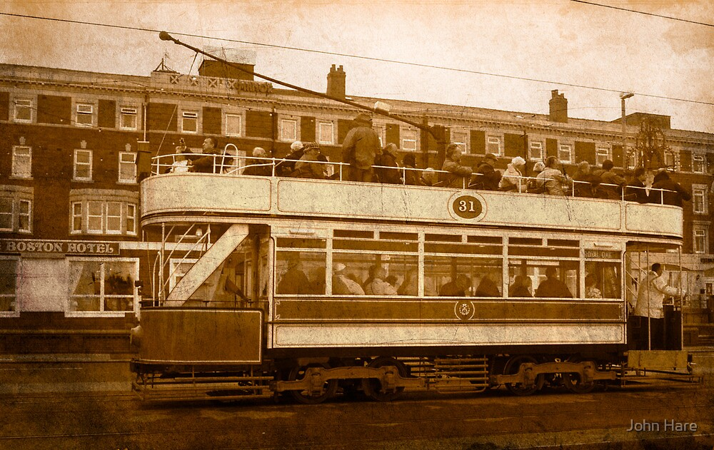 Vintage Blackpool Tram by John Hare