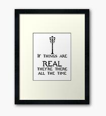 Real Framed Print