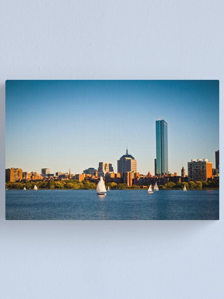Alternate view of Boston skyline at sunset Canvas Print
