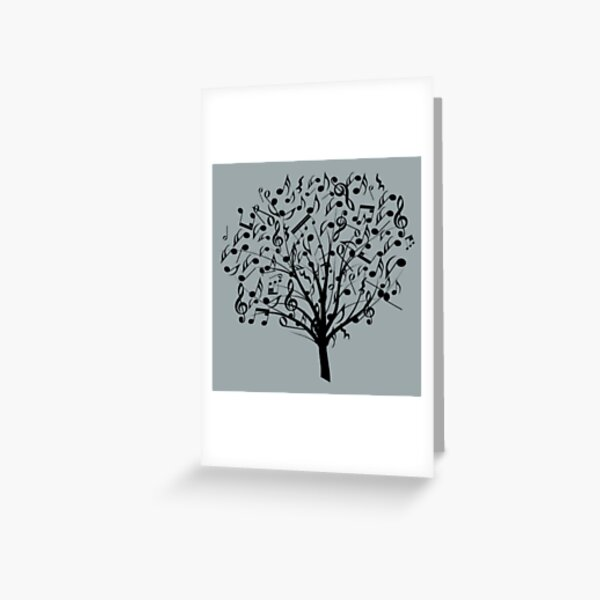 Music tree Greeting Card