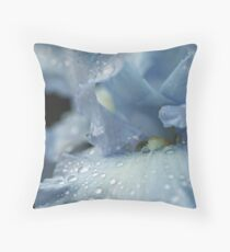 Wintry Blues Throw Pillow