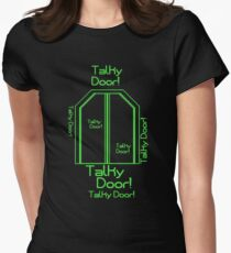 """Talky Door!"" - Hyperdrive Women's Fitted T-Shirt"
