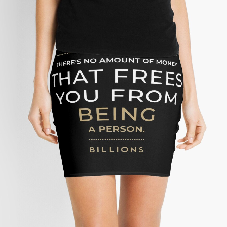 No Amount of Money that Frees You from Being a Person Mini Skirt