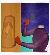 Moai Engaged in Cephalic Resizing Poster