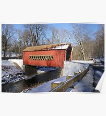 Wooddale Covered Bridge Poster