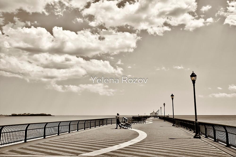 Ocean Breeze Fishing Pier by Yelena Rozov