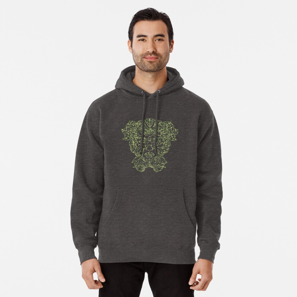Mother Earth Camo Green Pullover Hoodie