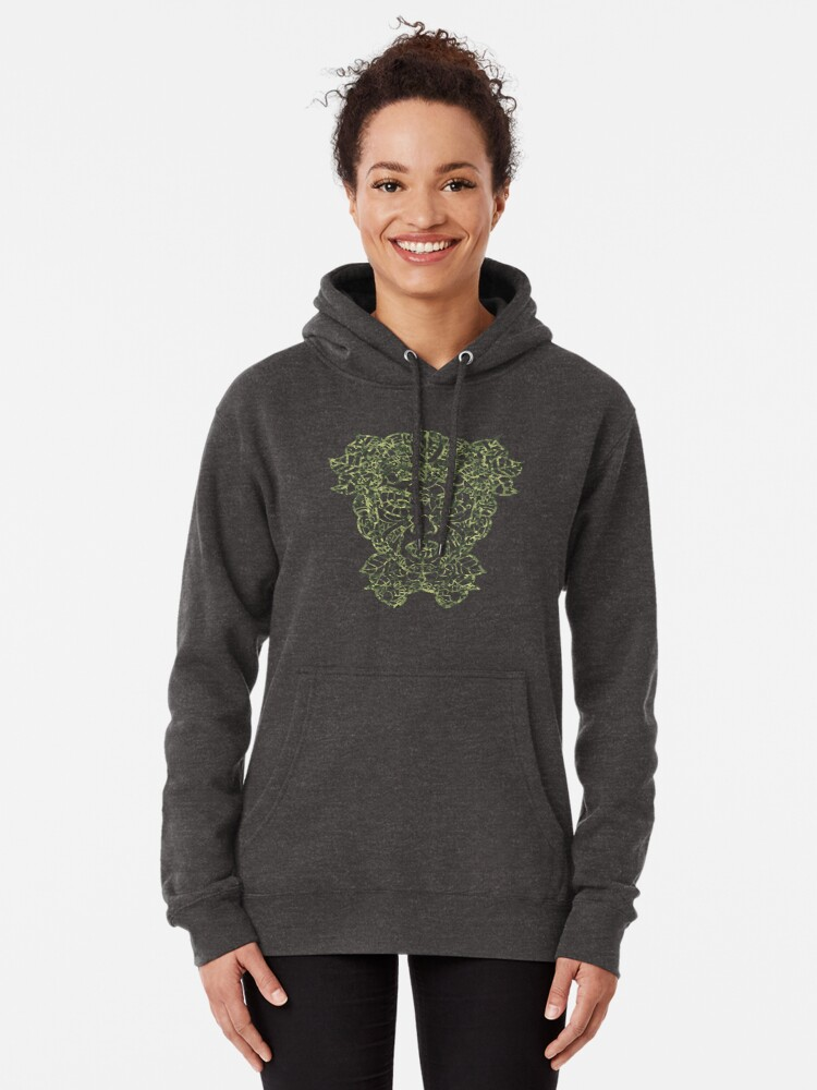 Alternate view of Mother Earth Camo Green Pullover Hoodie