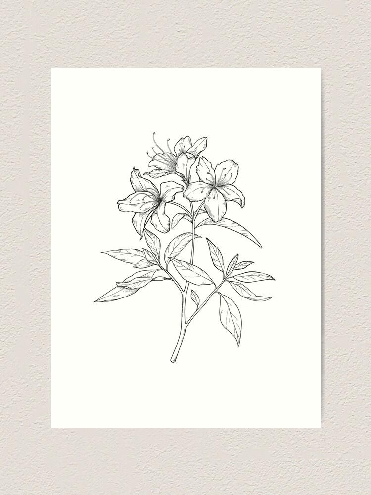 Alternate view of Azalea Art Print