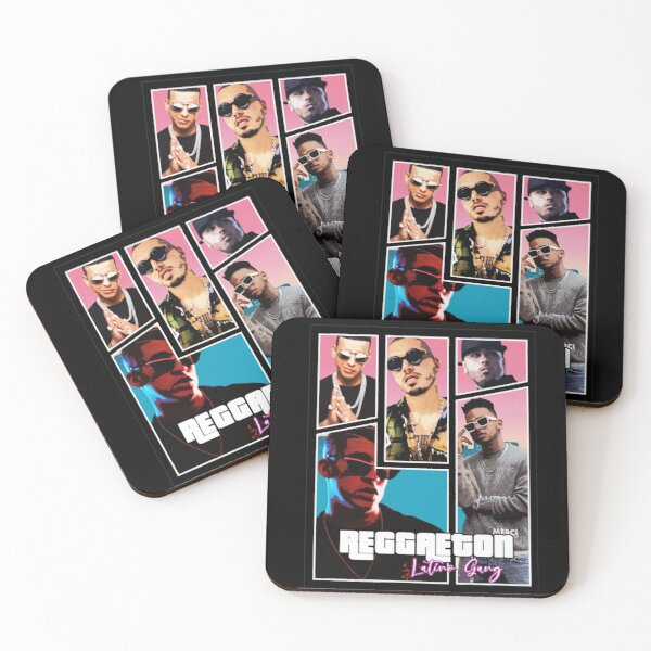 Reggaeton - Latino Gang Coasters (Set of 4)