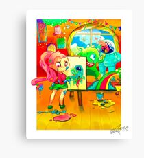 Aliens, Monster, Girls and Friends Canvas Print