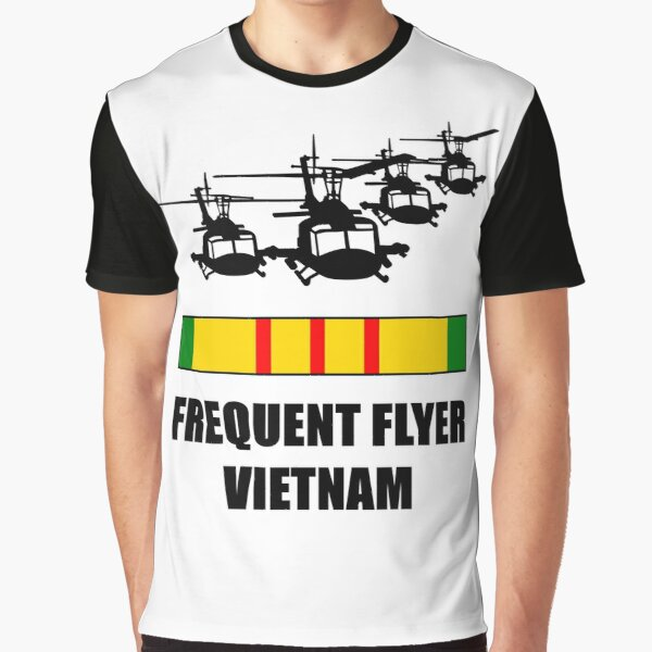 Vietnam Veteran Huey Frequent Flyer Time Was Served Graphic T-Shirt