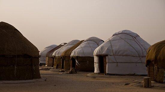 Yurts at Ayaz Kala by Gillian Anderson LAPS, AFIAP