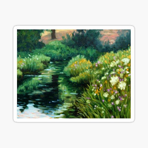 Wildflowers and Yarrow by American Artist Hilary J. England Sticker