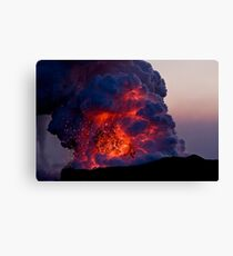 Kilauea Volcano at Kalapana 6 Canvas Print