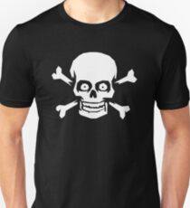Jolly Roger Pirate Skull and Crossbones Unisex T-Shirt