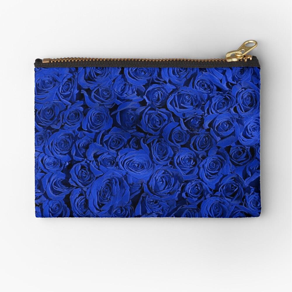 Beautiful Blue Roses Pattern, RBSSG Zipper Pouch