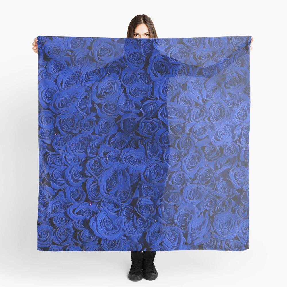 Beautiful Blue Roses Pattern, RBSSG Scarf