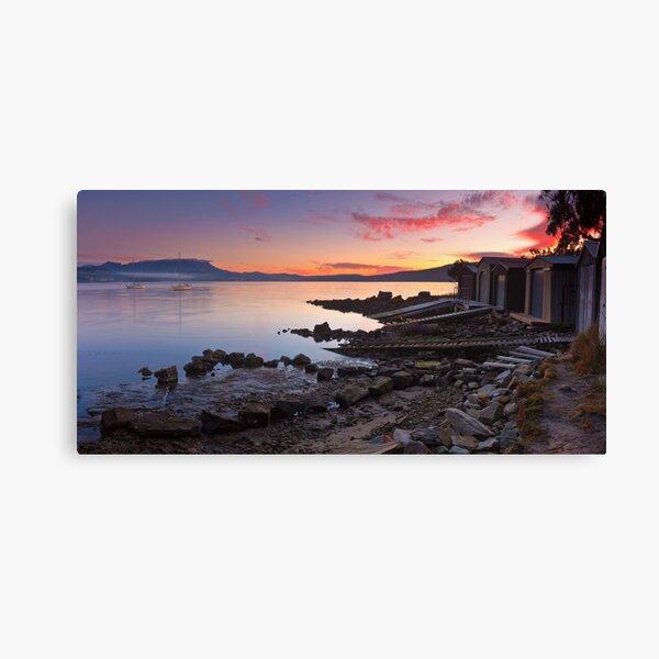 Boat Sheds at Sunrise, Coningham Canvas Print