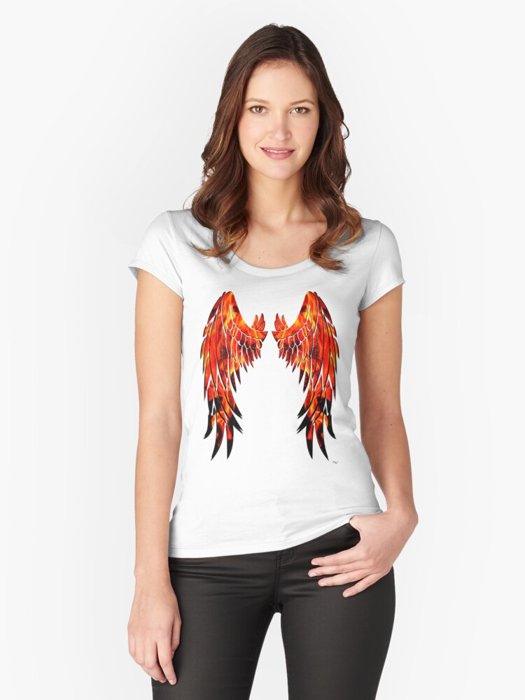 Fire wings Women's Fitted Scoop T-Shirt Front
