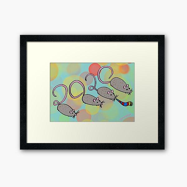 Year of the Rat 2020 Framed Art Print