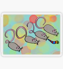 Year of the Rat 2020 Transparent Sticker
