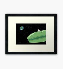Macaron Moon Framed Print