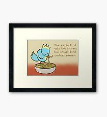 Ramen Noodle Bird Framed Print