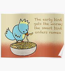 Ramen Noodle Bird Poster