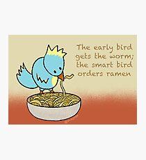 Ramen Noodle Bird Photographic Print