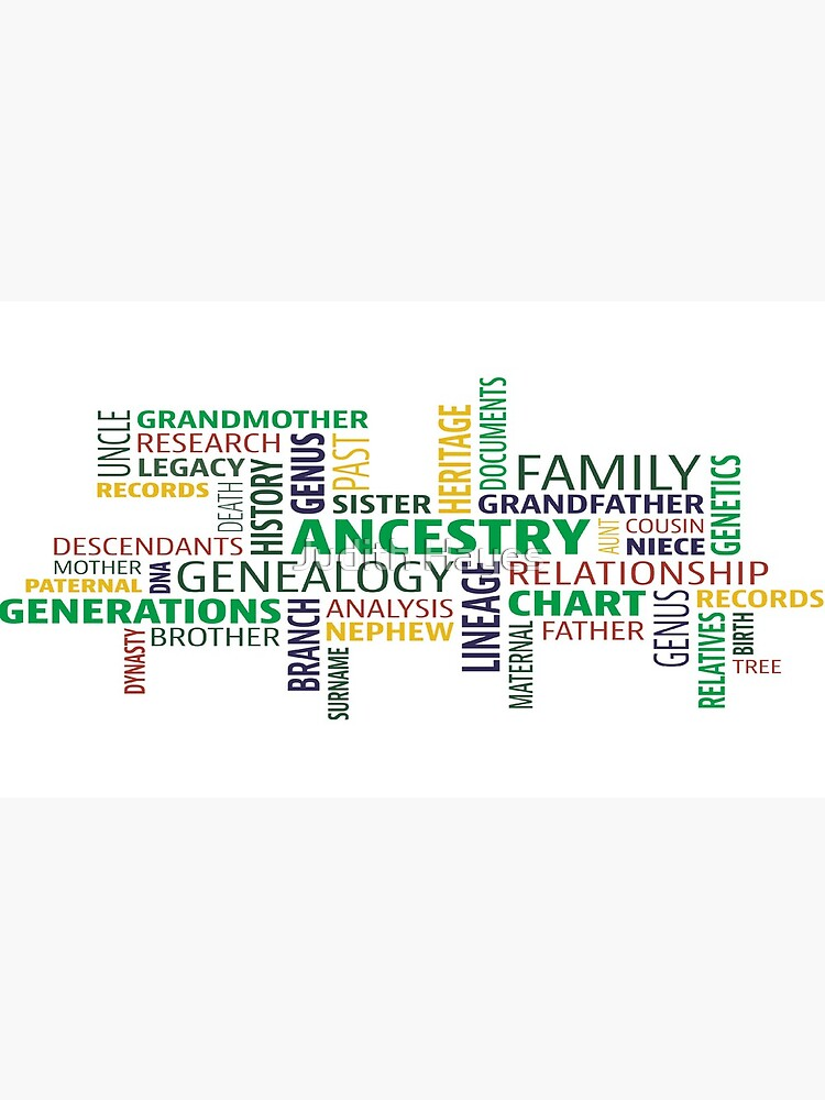 Cute Design full of Genealogy terms by mainephotobug