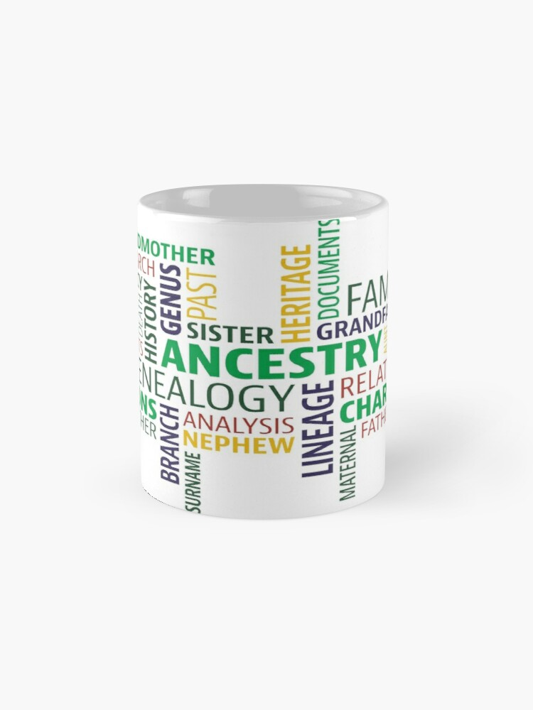 Alternate view of Cute Design full of Genealogy terms Mug