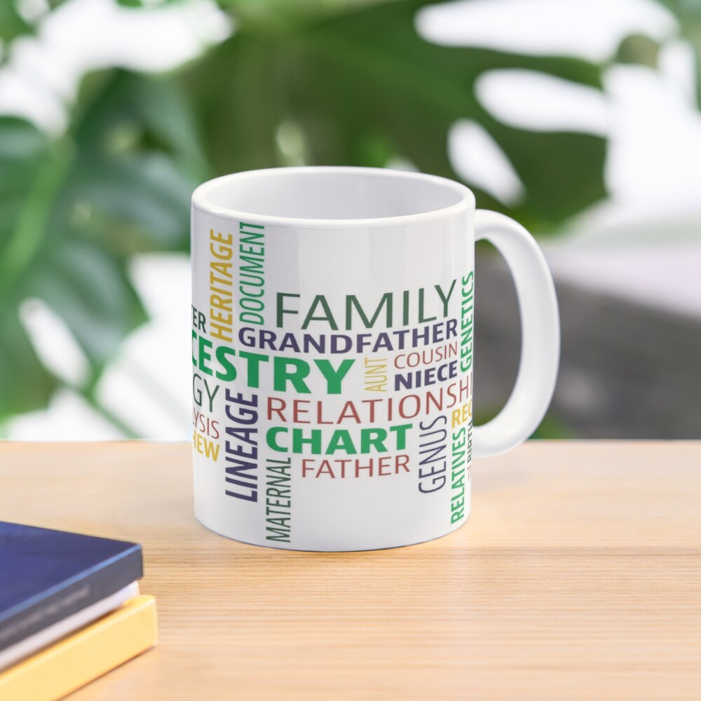 Cute Design full of Genealogy terms Mug
