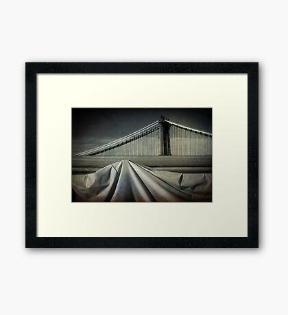 Bridges shapes Framed Print