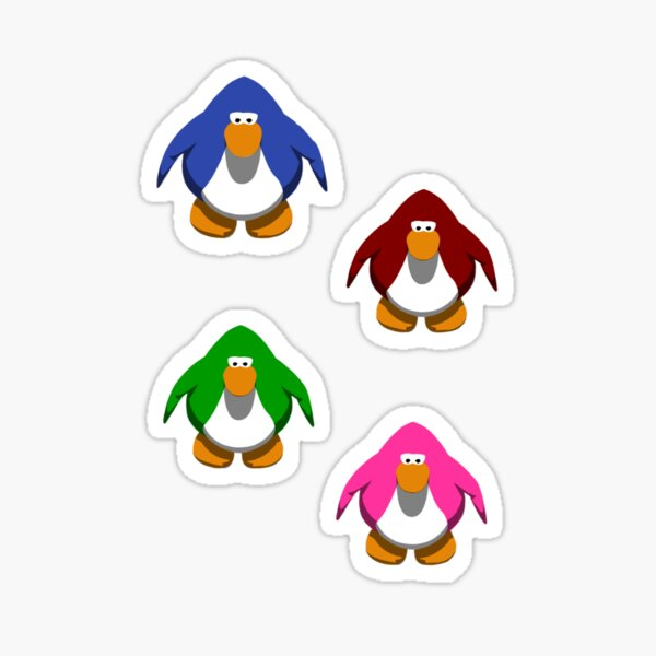 Club Penguin Penguins Sticker Set Sticker