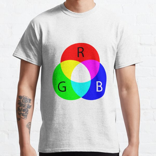 Primary RGB Colors: Red, Green, Blue - and their Mixing Classic T-Shirt