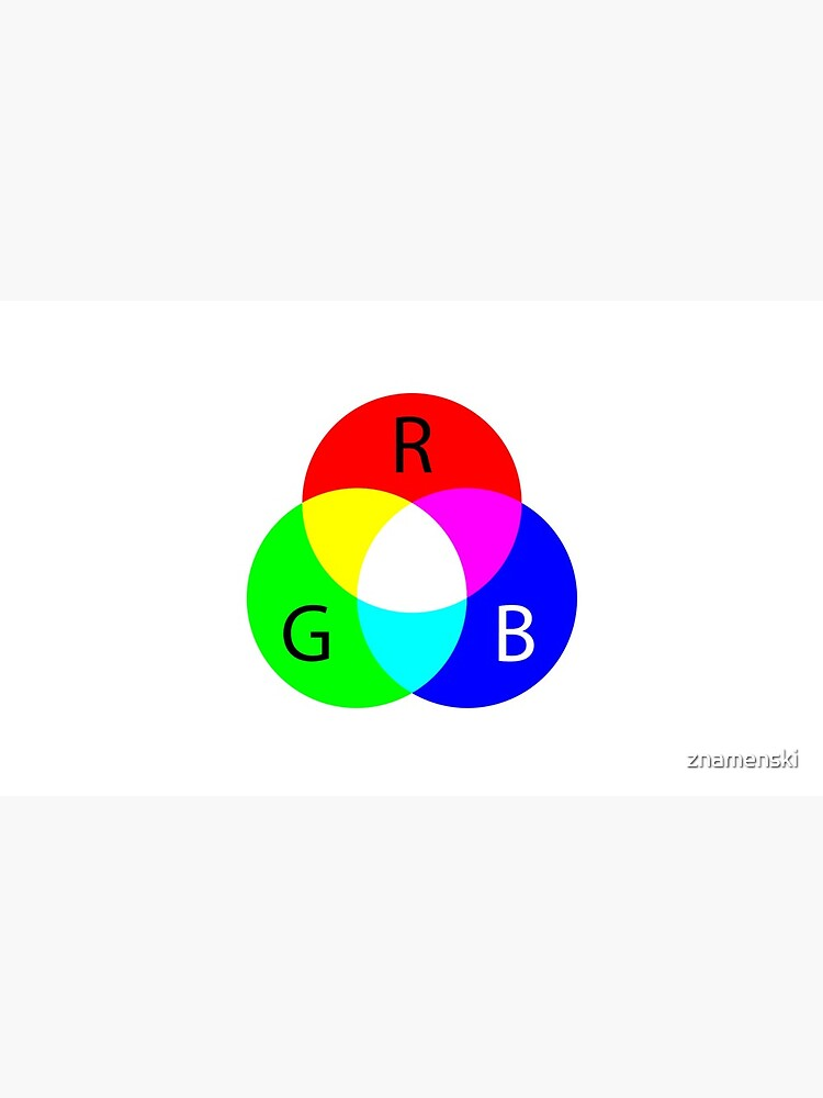 Primary RGB Colors: Red, Green, Blue - and their Mixing by znamenski