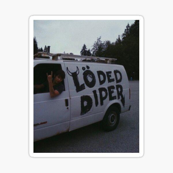 Loded diper Sticker