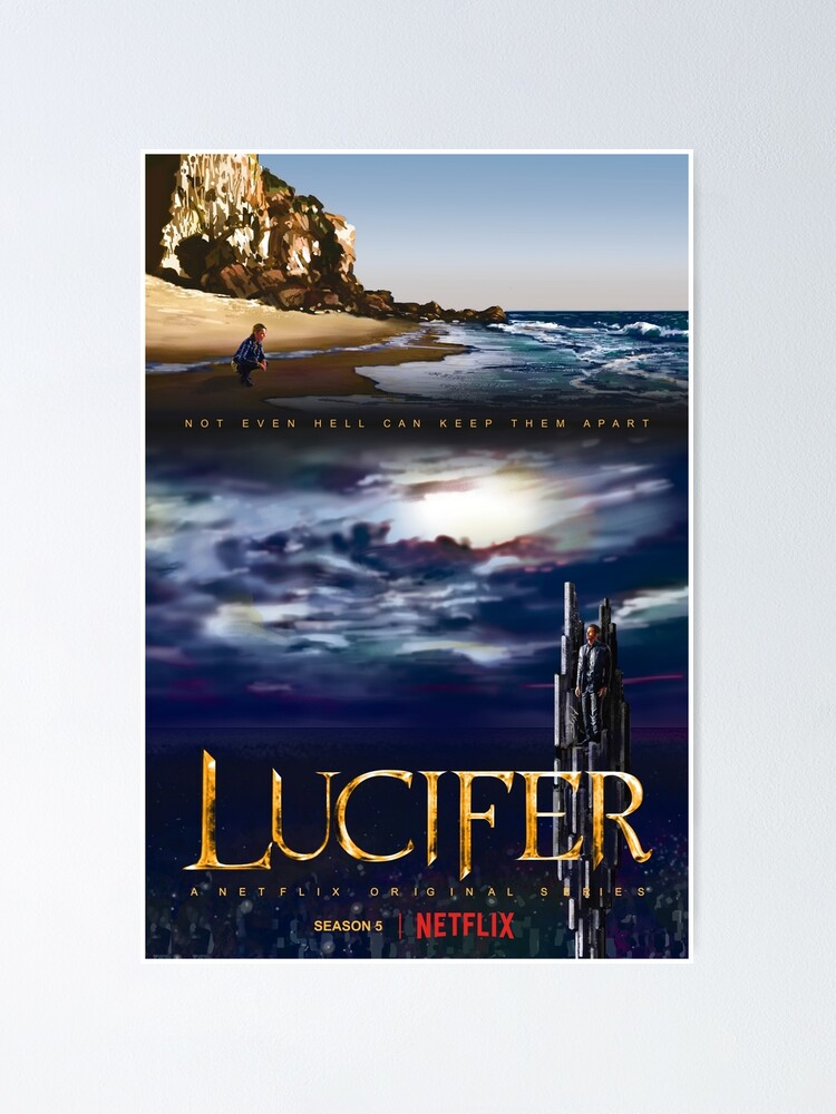 Lucifer Season 5 Malibu Hell Poster By Antarcticechoes Redbubble