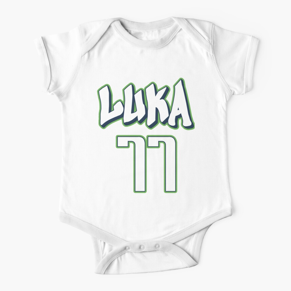 Luka Doncic 77 City Jersey Baby One-Piece