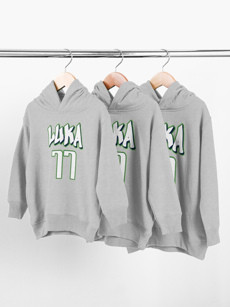Alternate view of Luka Doncic 77 City Jersey Toddler Pullover Hoodie