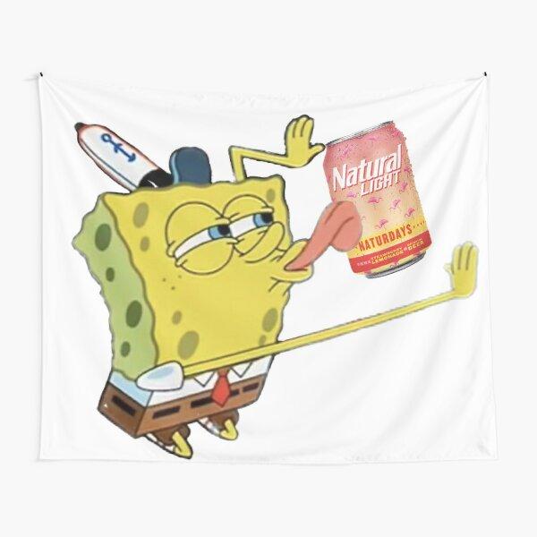 Naturday is for Spongebob Tapestry