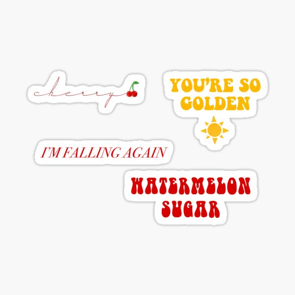 Harry Styles Sticker Pack - Fine Line Album Sticker